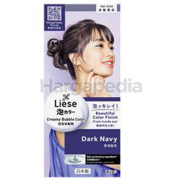 Liese Creamy Bubble Hair Color Dark Navy 1set