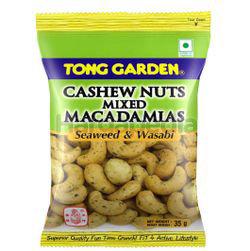 Tong Garden Cashew Nuts Mixed Macadamias Seaweed & Wasabi 35gm