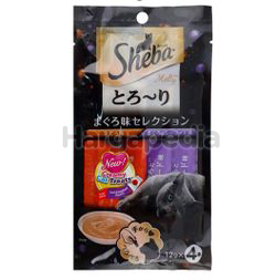 Sheba Melty Cat Treats Tuna & Seafood 4x12gm