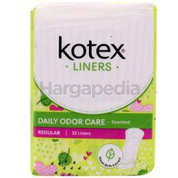Kotex Fresh Daily Odor Care Pantyliner Regular Scented Daun Sirih 32s
