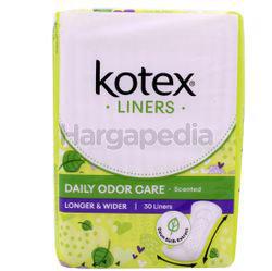 Kotex Fresh Daily Odor Care Pantyliner Longer & Wider Daun Sirih 30s