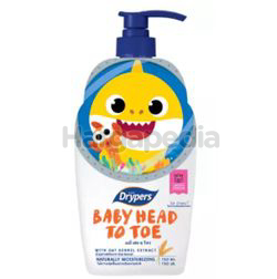 Drypers Baby Head to Toe Oat Kernel Pink Fong LE 750ml