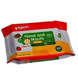 Pigeon Hand & Mouth Wet Tissues 60s