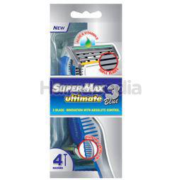 SuperMax Ultimate 3 Blue Disposable Razor 4s