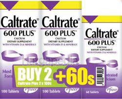 Caltrate 600 Plus 2x100s+60s