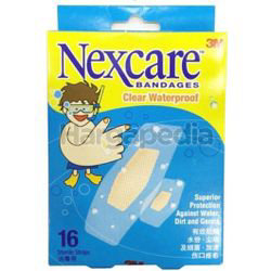 3M Nexcare Clear Waterproof Bandages 16s