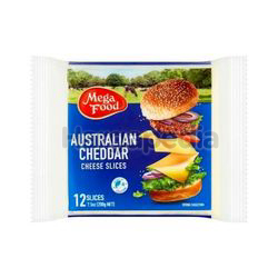 Mega Food Australia Cheddar Cheese Slices 200gm