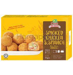 Kawan Cheesy Rice Bites Smoked Chicken & Spinach 250gm
