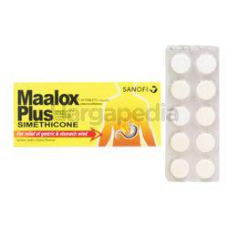 Maalox Plus Chewable Tablet 10s