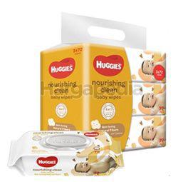 Huggies Baby Wipes Nourishing Clean Coco & Shea 3x72s