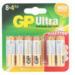 GP Ultra Plus Alkaline Battery 8AA FOC 4s