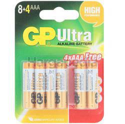 GP Ultra Plus Alkaline Battery 8AAA FOC 4s