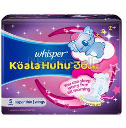 Whisper Koala Overnight Wing 36cm 5s