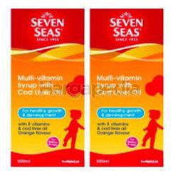 Seven Seas Multi-Vitamin Syrup With Cod Liver Oil 2x500ml