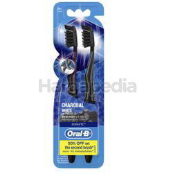 Oral-B Charcoal White Toothbrush 2s