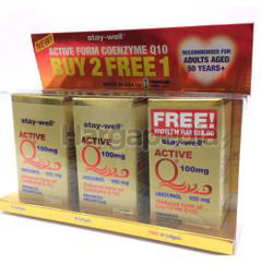 Stay-Well Active Q 100mg (2+1)x30s
