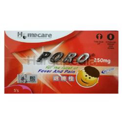 Poro Suppository 250mg 5s