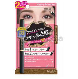 Kiss Me Heavy Rotation Fit Fiber In Double Eyebrow 01 Natural Brown 1s