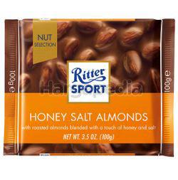 Ritter Sport Chocolate Honey Salt Almonds 100gm