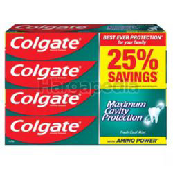 Colgate Fresh Cool Mint Toothpaste 4x225gm