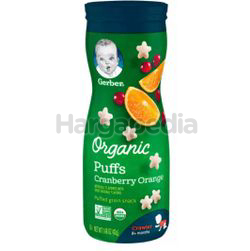 Gerber Organic Puffs Cranberry Orange 42gm