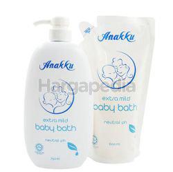 Anakku Baby Bath 750ml + Refill Pack 600ml