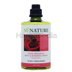 Nunature Rose Geranium Bath & Shower Cream 450m