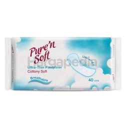 Pure' n Soft Ultra Thin Pantyliner Unscented 40s