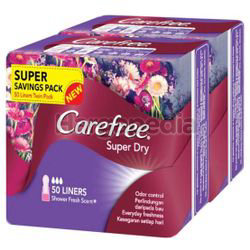 Carefree Super Dry Pantyliner Scented 2x50s