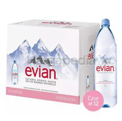 Evian Mineral Water 12x1lit