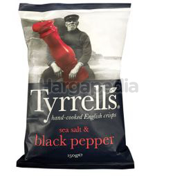 Tyrrell's Sea Salt & Black Pepper Potato Chips 150gm