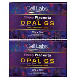 Celllabs Opal GS Sheep Placenta 15,000mg 2x(30s+30s)