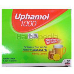 Uphamol 1000 Cold And Flu Honey Lemon 25x5gm