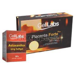 Celllabs Sheep Placenta Forte Plus 30,000mg 2x30s+Astaxanthin 30s
