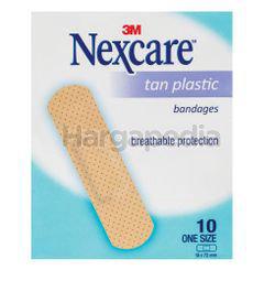 3M Nexcare Tan Plastic Bandages 10s