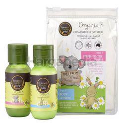 Botaneco Garden Baby Organic Chamomile & Oatmeal Travel Set