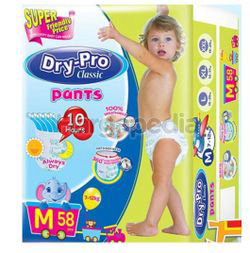 Dry-Pro Classic Baby Pants Diapers M58