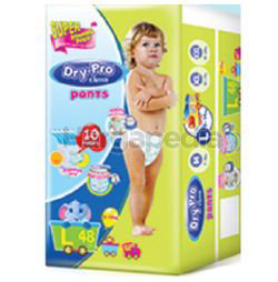 Dry-Pro Classic Baby Pants Diapers L48