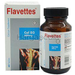 Flavettes Cal D3 600mg  60s