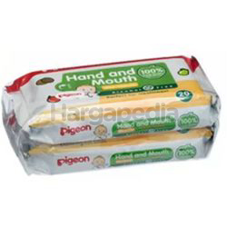 Pigeon Hand & Mouth Wet Tissues 2x20s