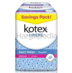 Kotex Fresh Pantyliner Regular Unscented 2x32s