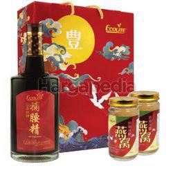 Ecolite Pu Yao Jing Essence Of Cordyceps Plus 750ml + Bird Nest 2x150ml
