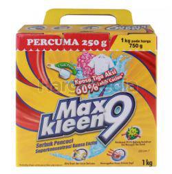 MaxKleen 9 Super Enzyme Power Concentrate Detergent Powder 1kg