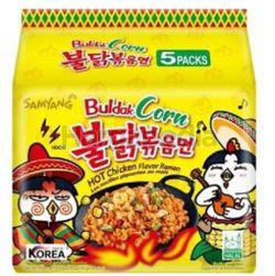 Samyang Buldak Corn Hot Chicken Ramen 5x130gm
