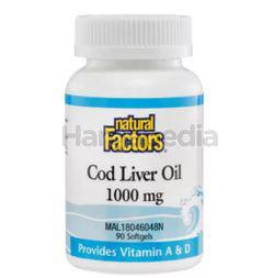 Natural Factors Cod Liver Oil 1000mg 90s