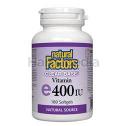 Natural Factors Clear Base E 400IU 90s