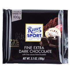 Ritter Sport Fine Extra Dark Chocolate 100gm