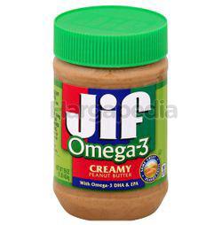 Jif Omega 3 Peanut Butter Creamy 16oz 454gm