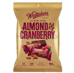 Whittaker's Share Bags Dark Almond & Cranberry 180gm