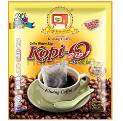 Kluang Black Coffee Kopi O 2in1 With Sugar 20x23gm